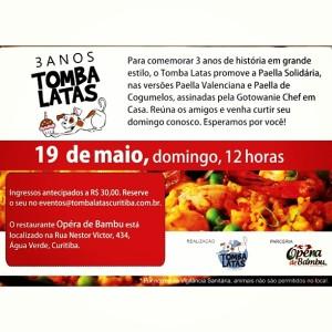 Continuação da comemoração do aniversário de 3 anos do projeto Tomba Latas