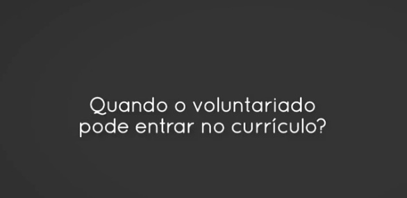 voluntariado curriculo